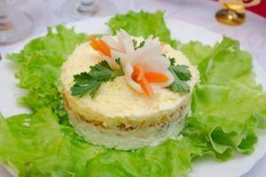 рецепты салатов с рыбой