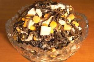 салат с кальмарами самый вкусный и простой