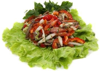 салат с говядиной отварной